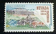 U.S. Scott 1248- Nevada Statehood Centennial, Virginia City- MNH OG F-VF 5c 1964