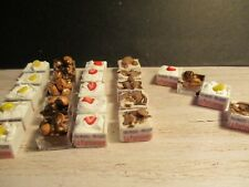 4 DOLLS HOUSE MINIATURE FRENCH PATISSERIE DESSERTS