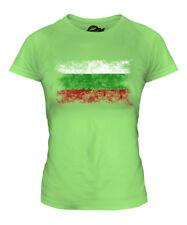 BULGARIA DISTRESSED FLAG LADIES T-SHIRT TOP BULGARIYA BULGARIAN BALGARIJA SHIRT