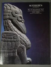 Sothebys Pre-Columbian Art Ny November 1991 with prices