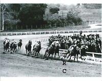 SEABISCUIT GREAT 8X10 HORSE RACING PHOTO AT 1938 SANTA ANITA HANDICAP!