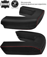 RED STITCH ROLL OVER BAR CARBON VINYL COVERS FITS BMW Z4 E85 ROADSTER 03-09