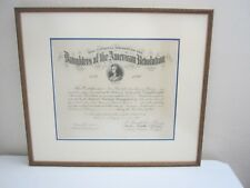 Antique DAR National Daughters of the American Revolution Certificate 1898