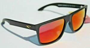 O'NEILL Harlyn POLARIZED Sunglasses Matte Black/Red Mirror Surf/Beach NEW
