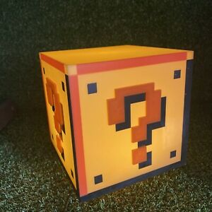 Super Mario Brothers Question Block - USB Lamp Light - With Sounds - Gamers Room