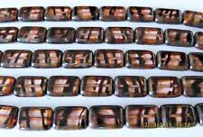 10 12 x 8 mm Polished Rectangles: Rosaline Tortoise - Picasso