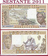 WEST AFRICAN STATES - D = MALI - 1000 1.000 FRANCS 1988 - P 406Da - SPL++/ XF+