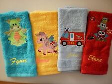 Kinderhandtuch bestickt,Wunschname,Wunschmotiv,Wunschfarbe