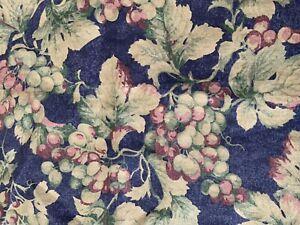 Williams Sonoma SAUVIGNON Grapes Toile Linen Cotton Table-runner 16x50 Italy