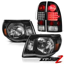 "For 05-11 Toyota Tacoma ""TRD STYLE"" Black LED Rear Tail Lights Crystal Headlight"