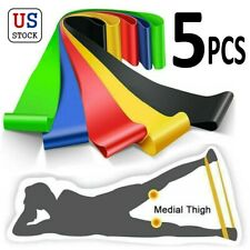 5Pcs Elastic Tension Band Resistance Stretch Belt Loop For Yoga Exercise Fitness