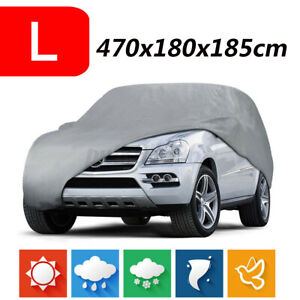 Full Car Cover Waterproof All Weather SUV Protection Rain Snow Resistant L Size