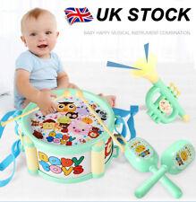 4Pcs/Set Baby Boy Girl Drum Musical Instruments Drum Set Children Toys UK