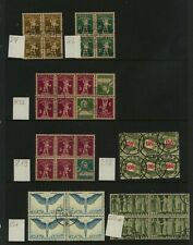 Switzerland  nice lot  of  used   blocks          MS0605