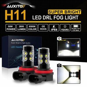 2xH11 H8 H9 2800LM LED Fog Light Bulbs Car Driving Lamp DRL 6000K White Globe AU