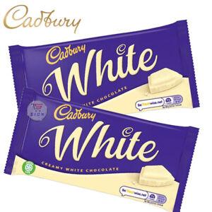 CADBURY WHITE SHARING BAR CHOCOLATE PACKS 90G (2 / 3 / 5 BARS)