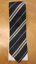 Fantastic Drakes Navy Striped Silk Tie NEW !!!