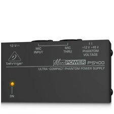 Behringer-ps400-ultracompacto Phantom suministro Eléctrico