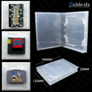 Universal Replacement Case for Game Cart N64 EA DVD Japan GBA Jaguar Clear Box