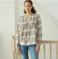 Knox Rose Womens Plaid Long Sleeve Button Down Shirt Size Large