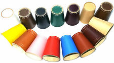 DICE CUP 100% Leather POKER BAR GAMES CASINO SHAKER Cups 15 COLORS