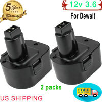 2X 3.6Ah For Dewalt 12V 12Volt Battery XRP DW9072 DC9071 DW9072 DC742KA DE9074-2