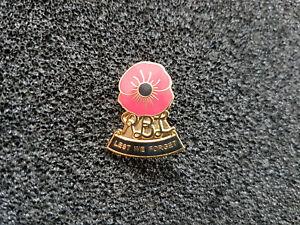 (A51-17) Royal British Legion Pin Army LEST WE FORGET