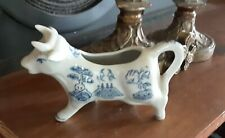SO UGLY, IT'S CUTE! BLUE WILLOW COW CREAMER