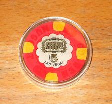 $5. Golden Nugget Casino Chip - 1980s - Las Vegas, Nevada