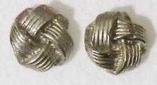 boucles d'oreilles percées clous noeud bijou vintage couleur argent * 4332