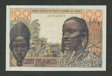 WEST AFRICAN dichiara - 100 FRANCHI 1959 P2A BB-SPL (banconote)