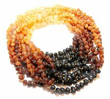 Lot of 10 Genuine Raw Baltic Amber Baby Necklaces Wholesale Rainbow