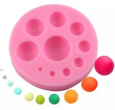 10 CIRCLE SILICONE MOULD/FONDANT/EPOXY RESIN CABOCHON MOLD-ROUND DECORATION-BALL
