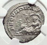 JULIA DOMNA Authentic Ancient Silver Roman Coin TERRA & FOUR SEASONS NGC i73293