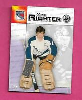 RARE 2003 RANGERS YOUNG MIKE RICHTER DURACELL GOALIE  CARD (INV# C9514)