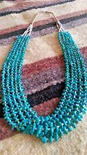 Santo Domingo 5 Strand Kingman Turquoise & Heishi Collectible Necklace USA