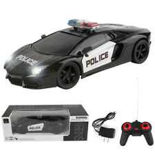 1/16 Electric RC 2.4Ghz Remote Control Racing Police Car Kids Toy W/Lights Gift