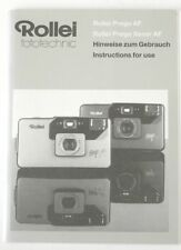 Rollei Prego Af Prego Xenar Af Instruction Manual (German, English)