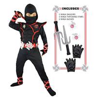 Ninja Ninjago Costume Kids Boys Assassin Cosplay Halloween Party Fancy Dress Set