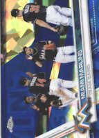 MIAMI MARLINS 2017 TOPPS CHROME SAPPHIRE EDITION #217 ONLY 250 MADE