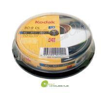 10 KODAK Blank Blu-Ray BD-R BDR DL Dual Double Layer 6X 50GB Inkjet Printable