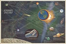1961 POSTER Astronauts' Space Map 8934002