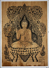 Thai traditional art of Buddha by printing on sepia paper_8
