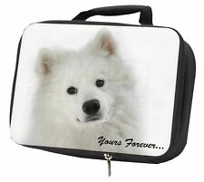 Samoyed Dog 'Yours Forever' Black Insulated School Lunch Box Bag, AD-SO75LBB