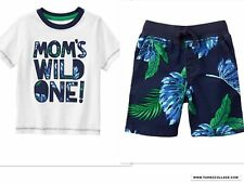 NEW GYMBOREE Boys Shorts Outfit  WILD ONE OUTDOOR EXPLORER  NWT SIZE 3T