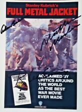 MOVIE POSTER SIGNED FULL METAL JACKET 8 X 10 COLOUR
