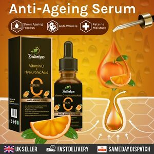FACE SERUM VITAMIN C WITH HYALURONIC ACID ORGANIC ANTI AGEING AND ANTI WRINKLE