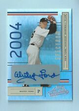 WHITEY FORD 2004 PLAYOFF ABSOLUTE SPECTRUM SIGNATURE AUTOGRAPH AUTO /5 YANKEES