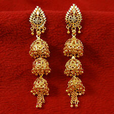 Ethnic Indian Bollywood Gold Plated Jhumka Earrings Traditional Jewelry BSE5454A