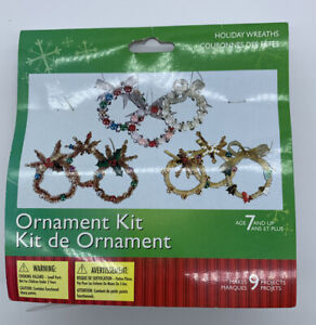Westrim Crafts Holiday Wreath Ornament Kit Christmas Project Makes 9 Wreaths NOS